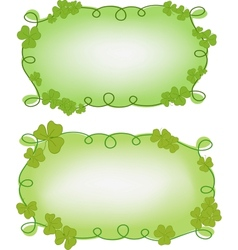 Banner templates for St Patricks day vector image vector image