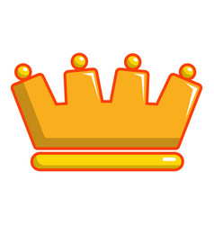 Baron crown icon cartoon style vector