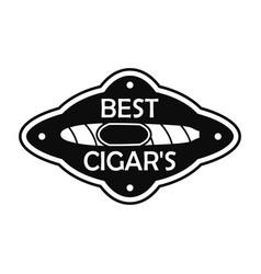 best cuban cigar logo simple style vector image