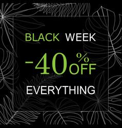 Black week vector
