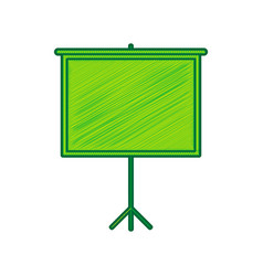 blank projection screen lemon scribble vector image
