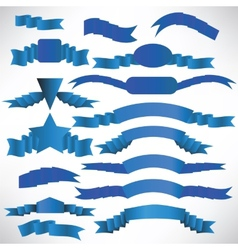 Blue ribbons with a stripe vector image