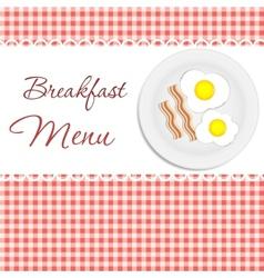Breakfast menu vector image