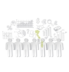 Business charts teamwork and team leader vector image