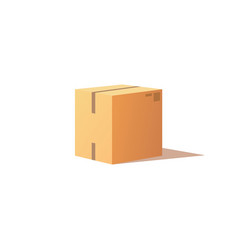 Carton package with adhesive tape icon vector