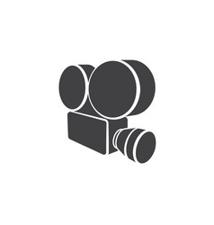 cinema logo - film movie video entertainment retro vector image