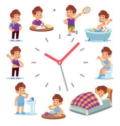 Daily routine clocks daily routine clocks vector