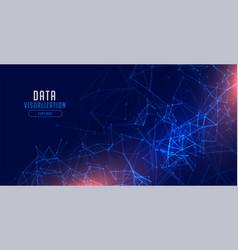 Data visualization technology network mesh vector