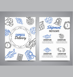 delivery and express shipment background courier vector image