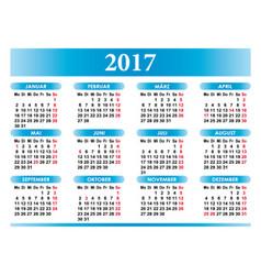 Deutsch Kalender 2017 German Calendar vector
