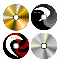dvd disk with both side vector image