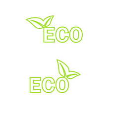 ecology icon vector image