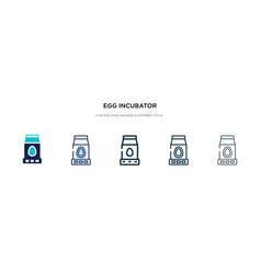 egg incubator icon in different style two vector image
