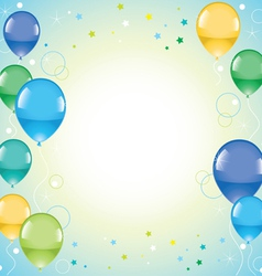Festive colorful balloons vector