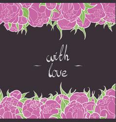 Floral frame postcard vector