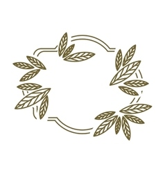 frame leaves with branch contour vector image