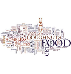 Free goughnuts text background word cloud concept vector