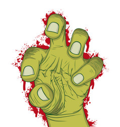hand of zombie vector image
