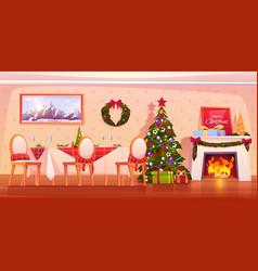 Happy family christmas dinner celebrating holiday vector