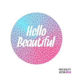 Hello beautiful design for greeting card template vector