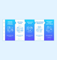 House cleaning tips onboarding template vector