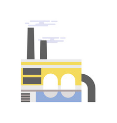 industrial building refinery plant vector image