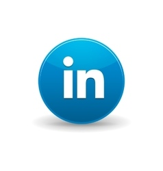 linkedin icon simple style vector image