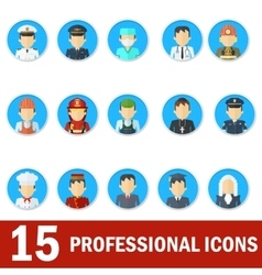 man professional icons vector image