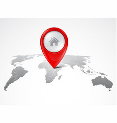 map marker on world map vector image