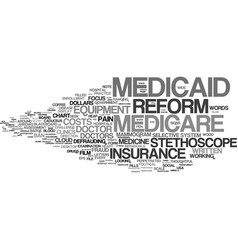 Medicaid word cloud concept vector