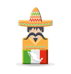 mexican man wearing traditional clothes vector image