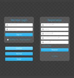 modern registration and login form vector image