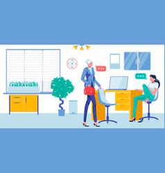 Office clerks in informal working environment vector