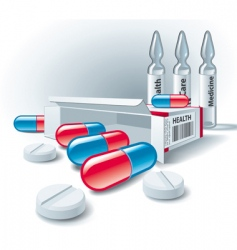 pharmaceutical icons vector image