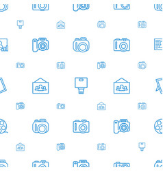 Picture icons pattern seamless white background vector