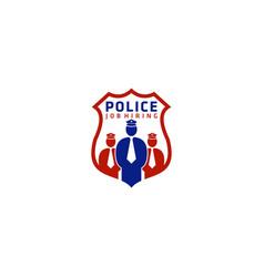 Police job hiring logo design vector