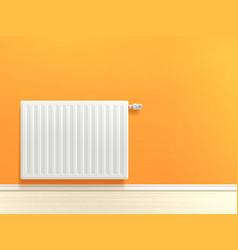 radiator on wall vector image