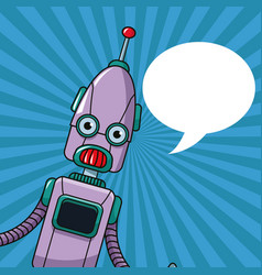 Robot technology toy bubble speech vector