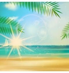 Sea beach for summer design vector