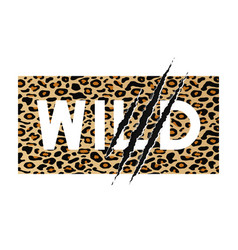 seamless leopard vector image