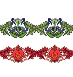 Set of seamless ethnic borders Indian style vector