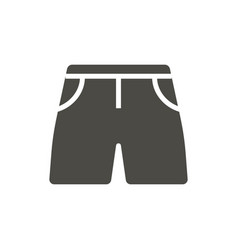 shorts icon summer clothes symbol isolated vector image