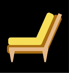 Side view of home or office furniture- sofa vector