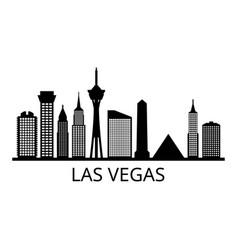 skyline las vegas vector image