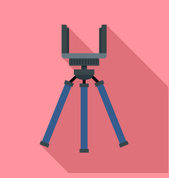 smartphone tripod icon flat style vector image