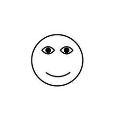 Smile face emoticon vector