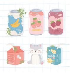 Soda hand drawn set vector