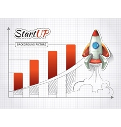 Start up new business project infographic with vector