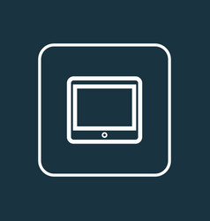 tablet outline symbol premium quality isolated vector image