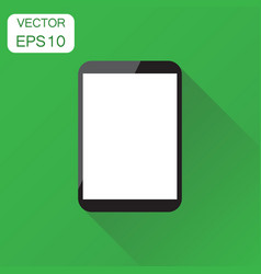 tablet with white screen icon business concept vector image